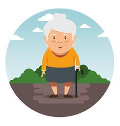 happy grandmother cartoon vector image