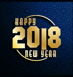 happy new year 2018 on seamless background vector image