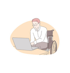 Home education remote job accessibility concept vector