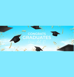 horizontal banner for design graduation vector image