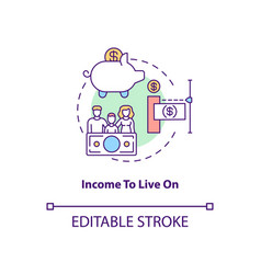 Income to live on concept icon vector
