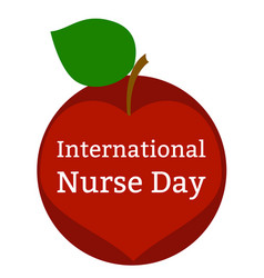international nurses day heart apple vector image
