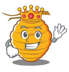 King bee hive character cartoon vector