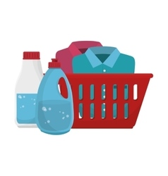 Laundry service set icons vector