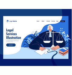 Law lawyer justice and legal services vector