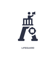 Lifeguard icon on white background simple element vector
