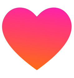 Like and heart icon in trendy style vector