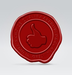 Like post batch wax seal vector