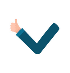 male arm hand showing thumb up approval vector image