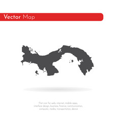 Map panama isolated black on vector