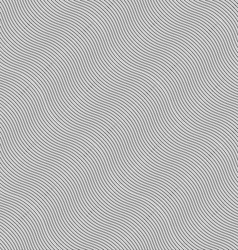 Monochrome pattern with light gray diagonal wavy vector