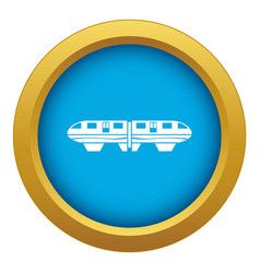 Monorail train icon blue isolated vector