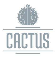nature cactus logo simple gray style vector image vector image