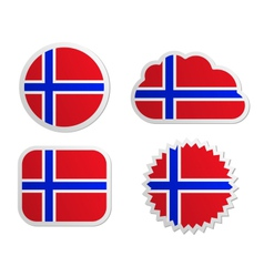 Norway flag labels vector