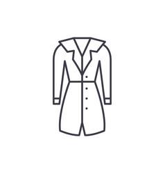 outerwear line icon concept outerwear vector image