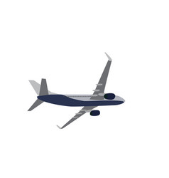 passenger plane flying isolated on white vector image