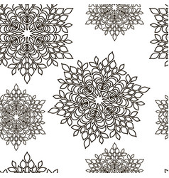 pattern seamless abstract black line vector image