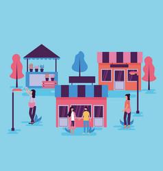 People activities outdoors vector
