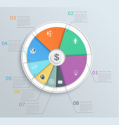 pie chart with icons infographics vector image