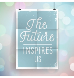Poster with hand drawn lettering slogan vector image