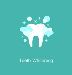 Professional teeth whitening image healthy tooth vector