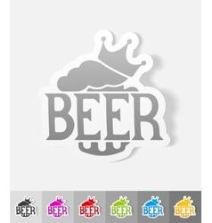 realistic design element king beer vector image