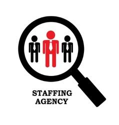 Recruitment agency logo vector
