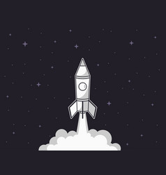 rocket launch business startup concept vector image