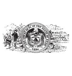 seal of the state of utah 1904 vintage vector image