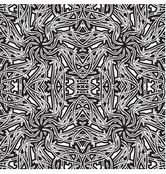 Seamless pattern abstract black and white pattern vector