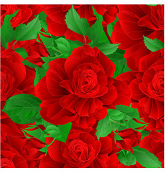 seamless texture stem flower red rose and leaves vector image