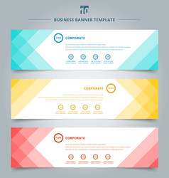 Set of banner web templates geometric header vector