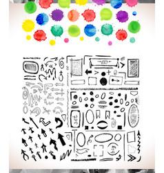 set of watercolor arrows vector image vector image