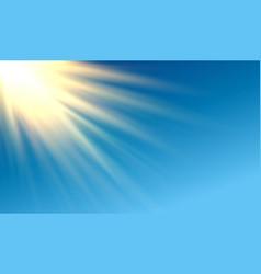 shiny golden long rays horizontal design vector image