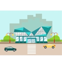 shopping center modern facade vector image
