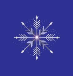 Silver snowflake vector