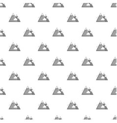 snowy mountains pattern vector image