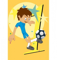 soccer cartoon vector image