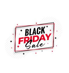 stylish black friday sale background vector image
