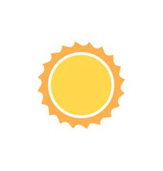 sun icon logo cartoon sunshine cute vector image