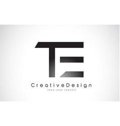 Te t e letter logo design creative icon modern vector