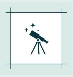 Telescope icon education vector