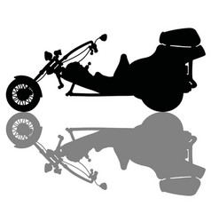 The silhouette of a motor tricycle vector