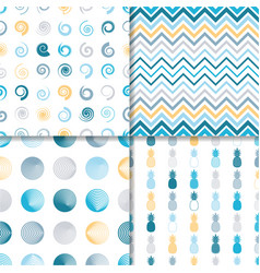 various simple seamless vintage pattern set vector image