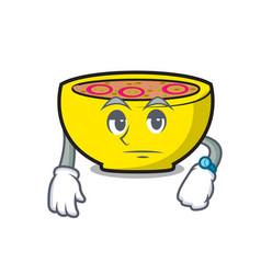 Waiting soup union mascot cartoon vector