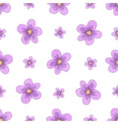 Watercolor lavender blossom seamless vector