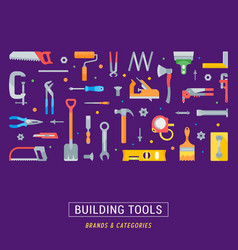 website banner and landing page building tools vector image