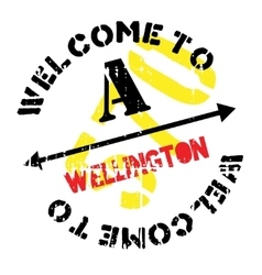 Wellington stamp rubber grunge vector
