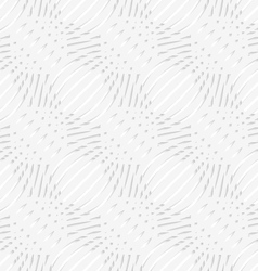 White simple wavy with small details perforated vector image