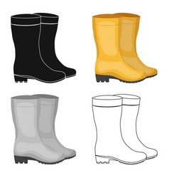 yellow rubber waterproof boots for women to work vector image